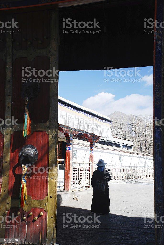 Tibetan Woman royalty-free stock photo