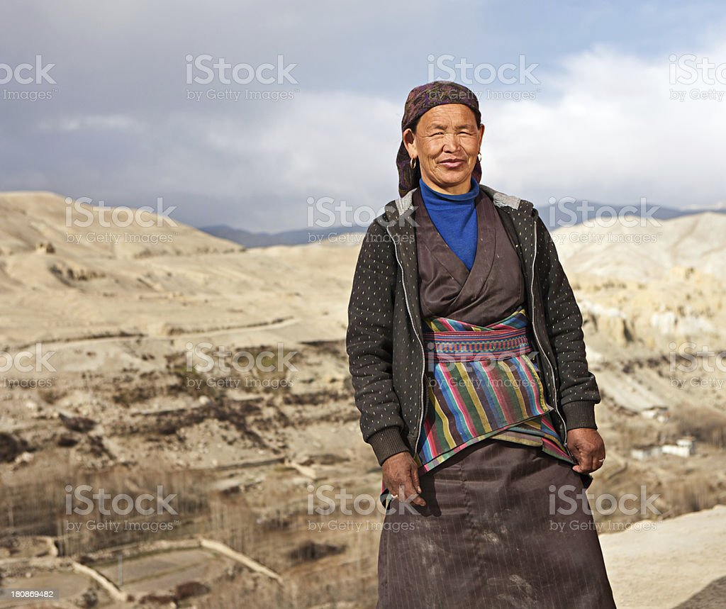 Tibetan woman. royalty-free stock photo