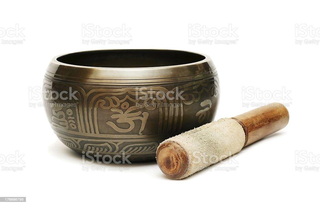 Tibetian singing bowl royalty-free stock photo