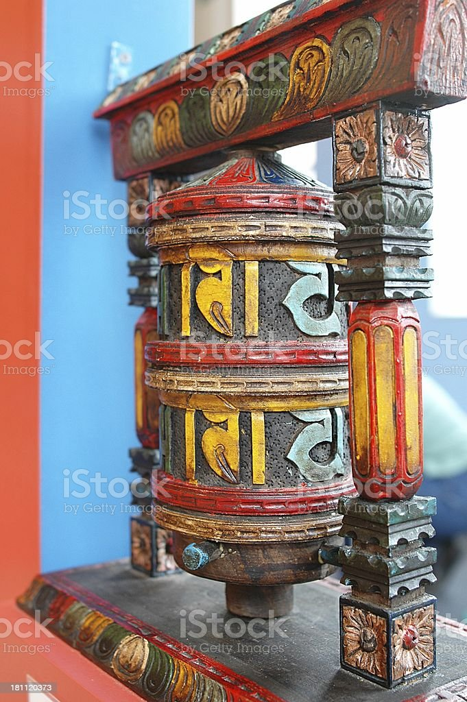 Tibetin Prayer wheel royalty-free stock photo