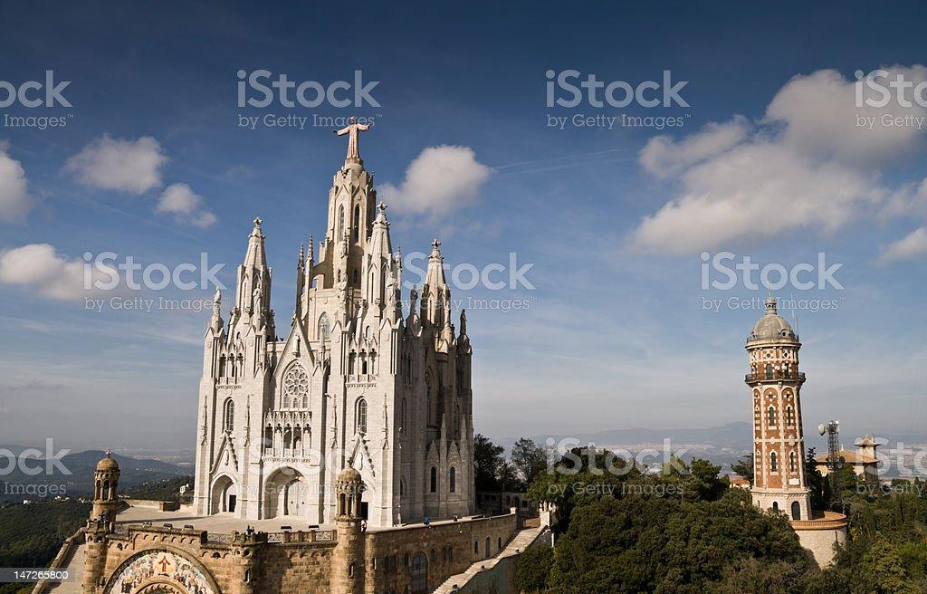 Tibidabo church, Barcelona, Spain stock photo