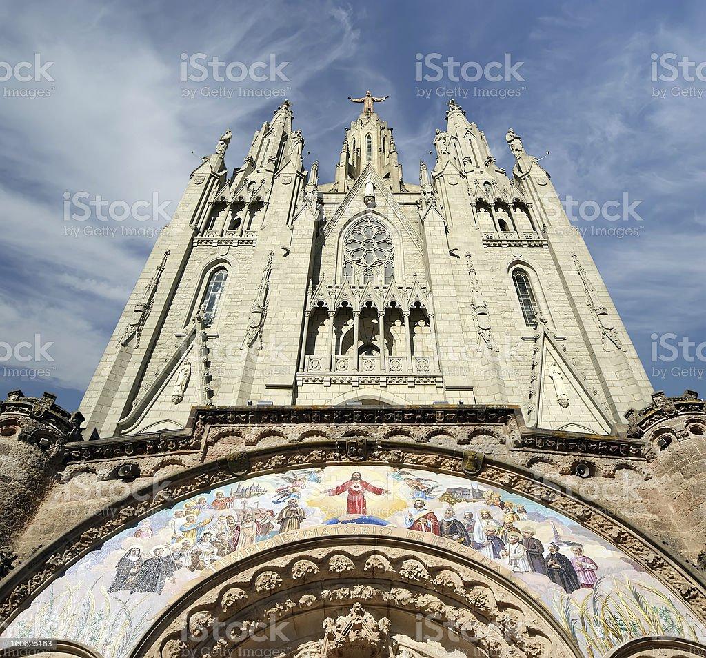 Tibidabo church/temple, Barcelona royalty-free stock photo