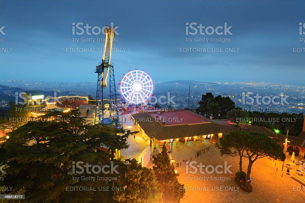 Parque del Tibidabo foto de stock libre de derechos
