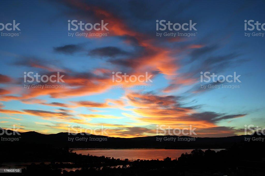 Tiburon California Sunset royalty-free stock photo