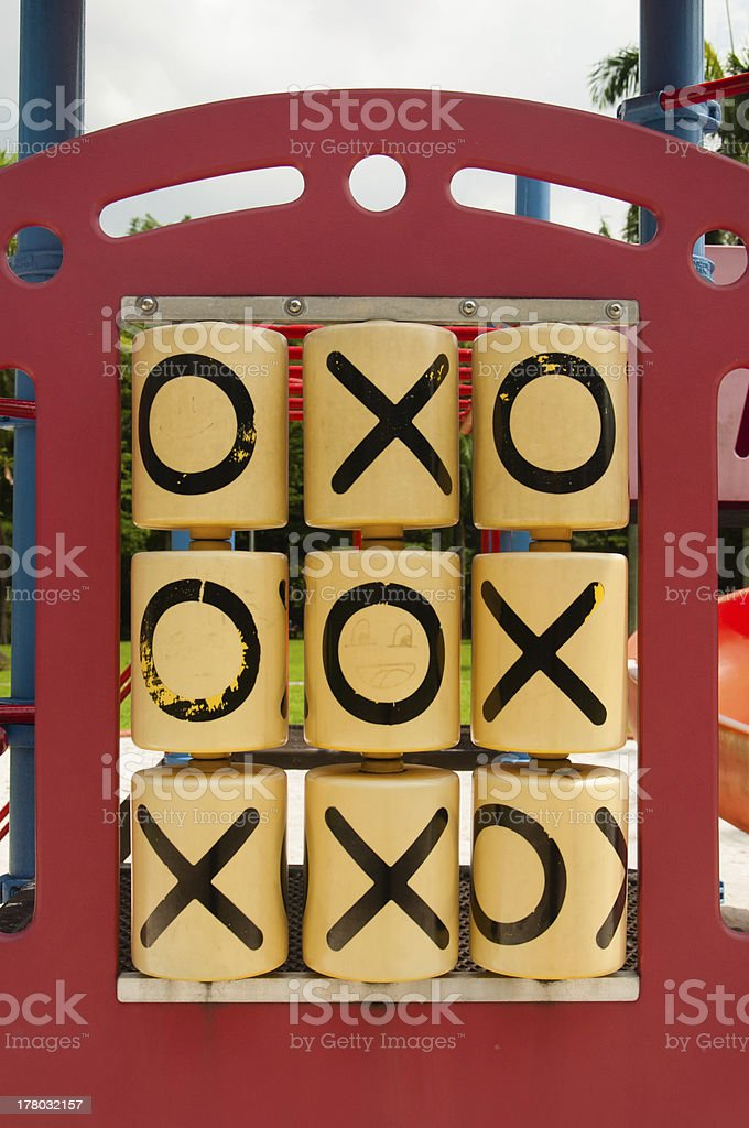 Tic Tac Toe - a game won by Zero royalty-free stock photo