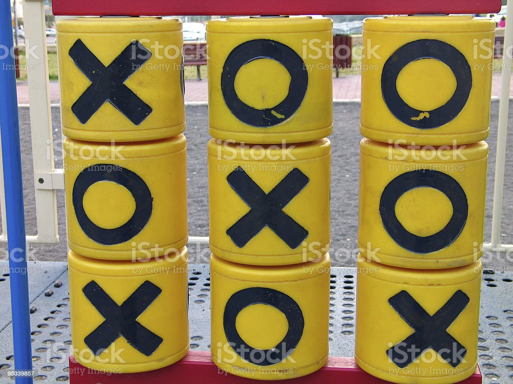 Tic tac toe noughts and crosses royalty-free stock photo