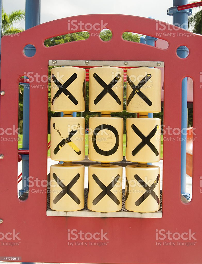 Tic Tac Toe - Odd one out royalty-free stock photo