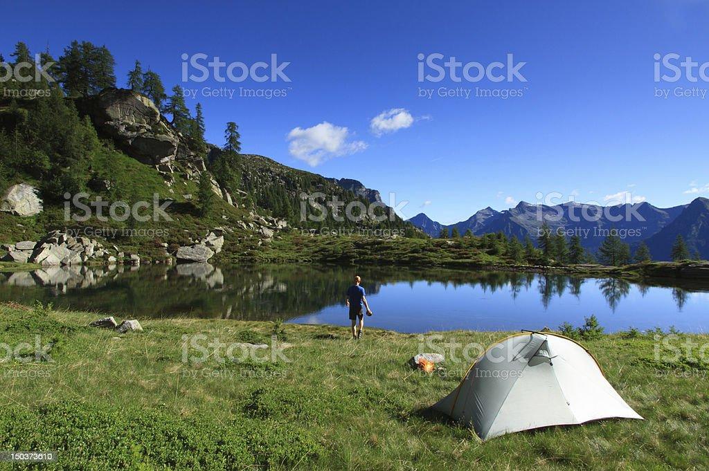 Ticino campsite royalty-free stock photo