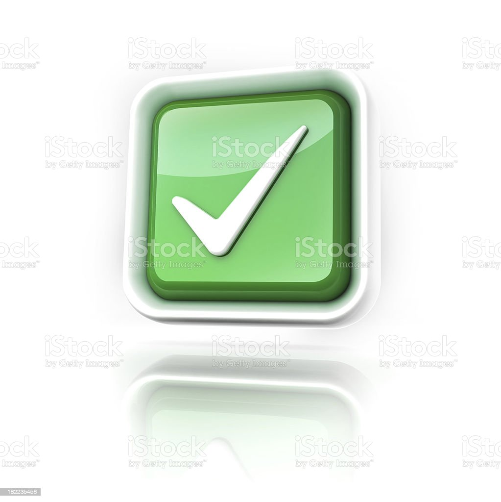tick or check mark icon royalty-free stock photo