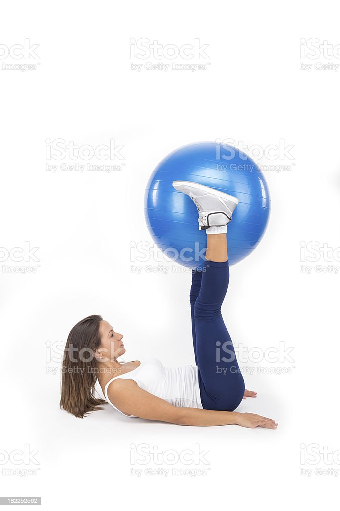 Tick Tocks With an Exercise Ball stock photo
