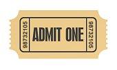 ticket admit one concept illustration
