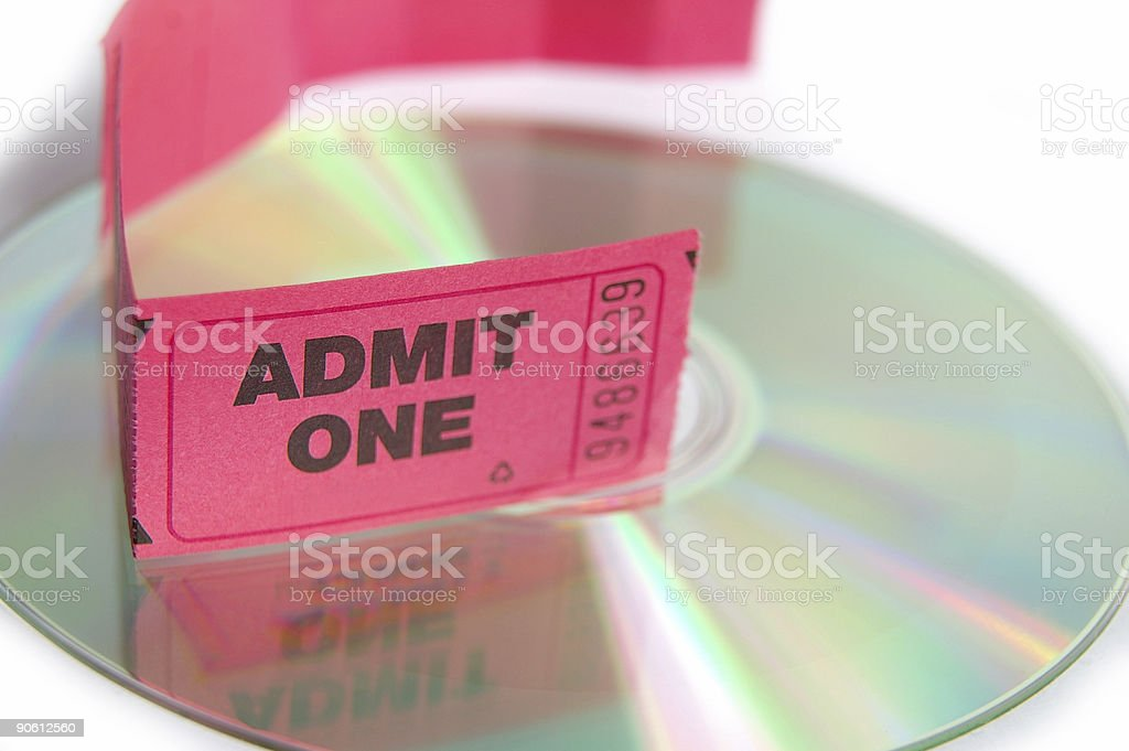 Ticket and disc stock photo