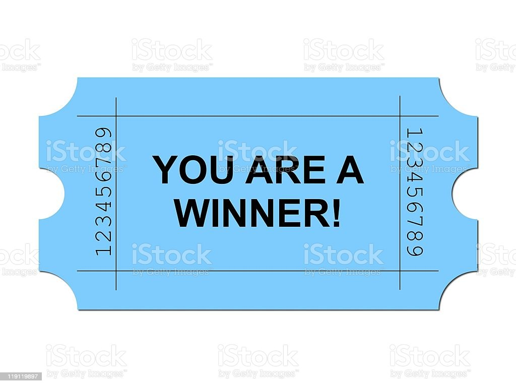 Ticket Blue royalty-free stock photo