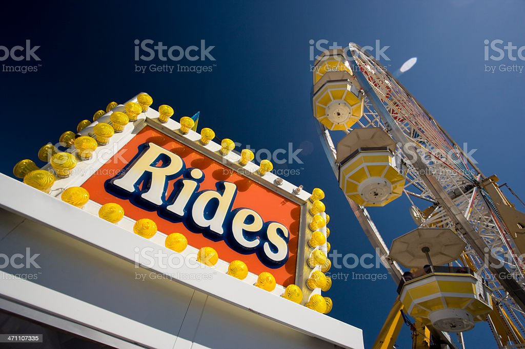 Ticket booth at an amusement park royalty-free stock photo