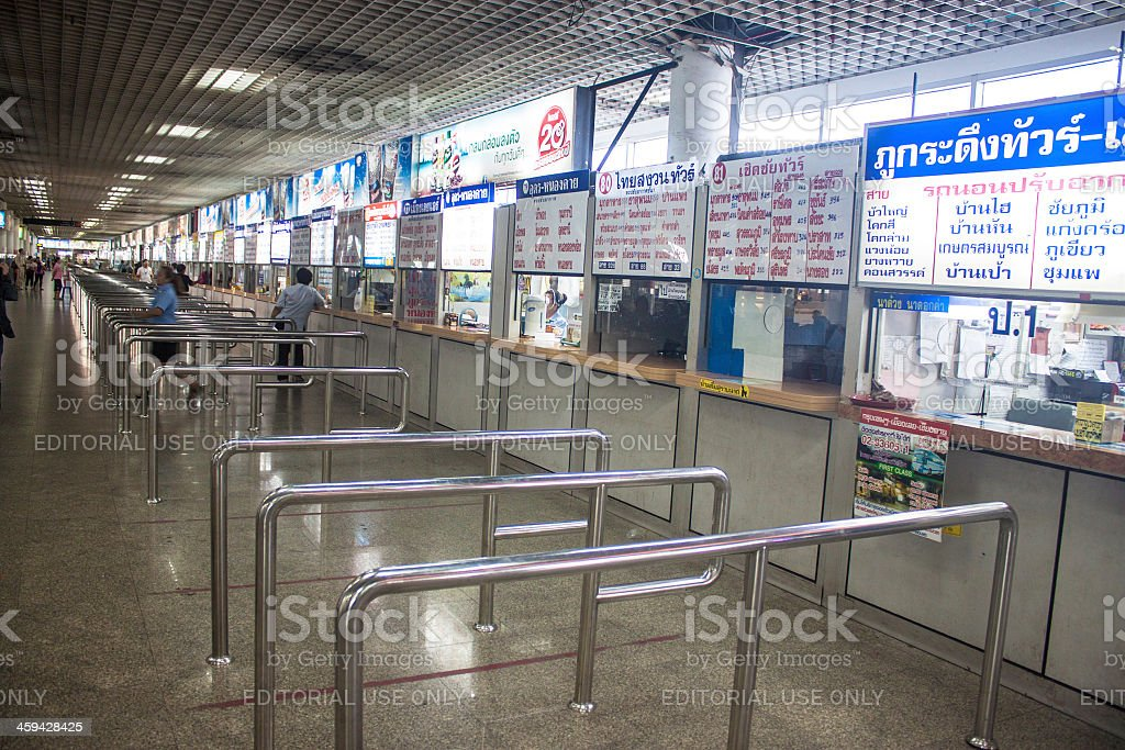 Ticket counters stock photo
