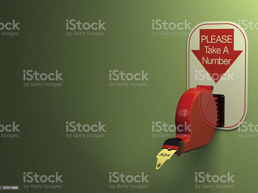 Ticket Dispenser stock photo