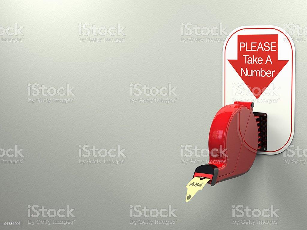 Ticket Dispenser stock photo