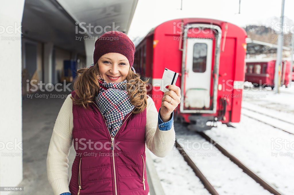 Ticket for happy travel stock photo