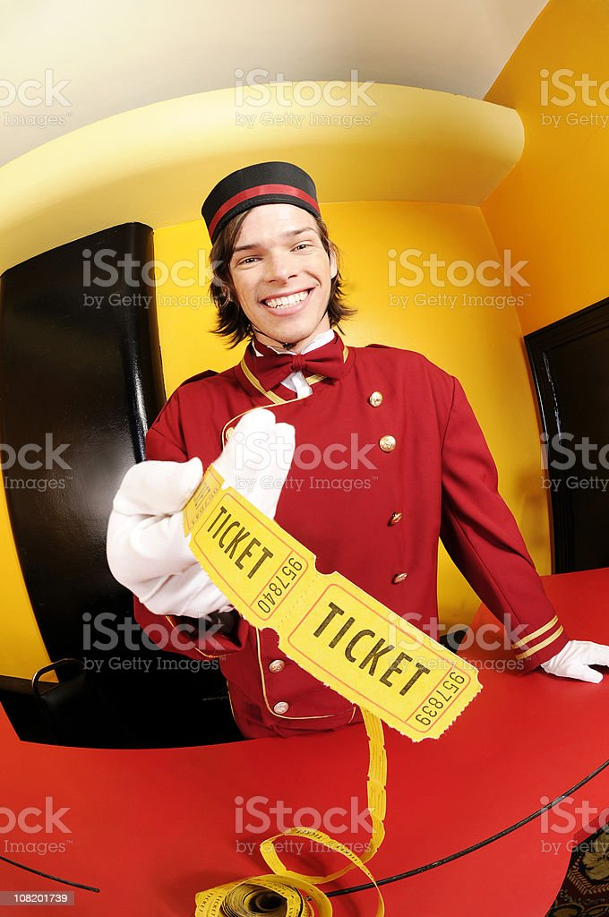 Ticket for you! royalty-free stock photo