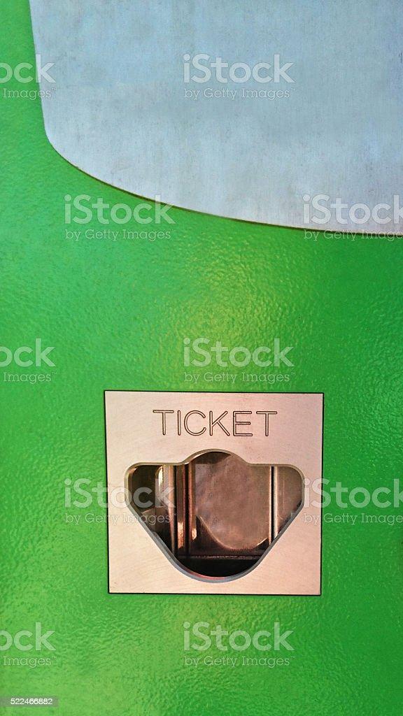 Ticket gate of parking machine. stock photo