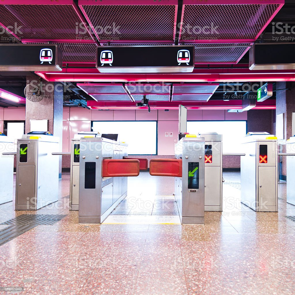 Ticket gate stock photo