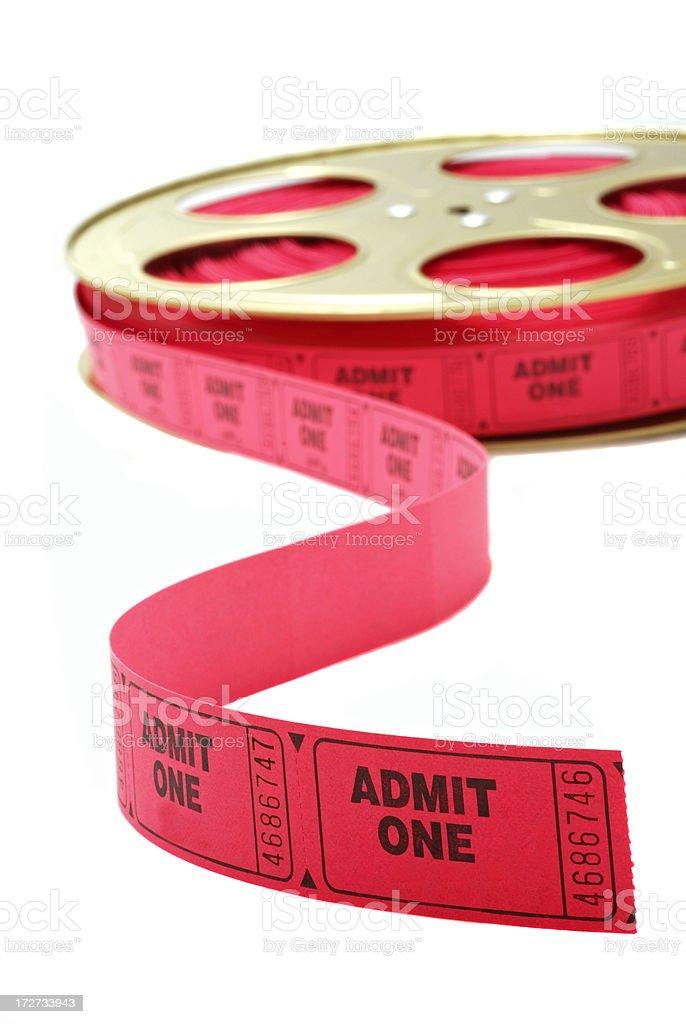 Ticket Half Reel royalty-free stock photo