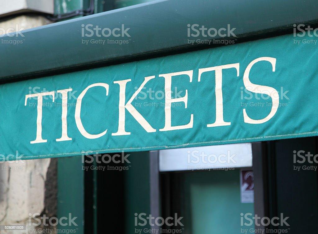 ticket kiosk stock photo