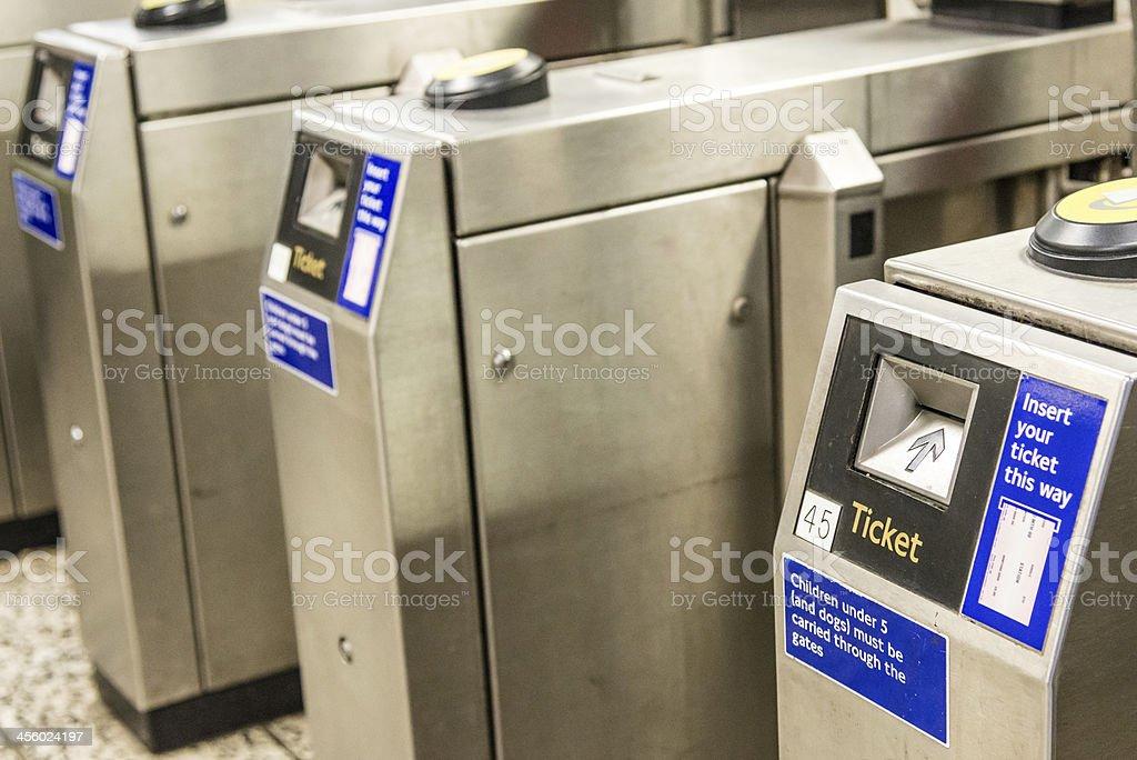 Ticket machines stock photo