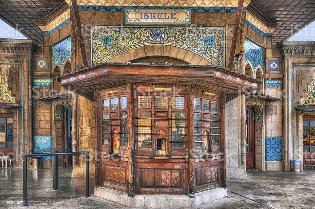 Ticket Office of Haydarpasa Pier royalty-free stock photo