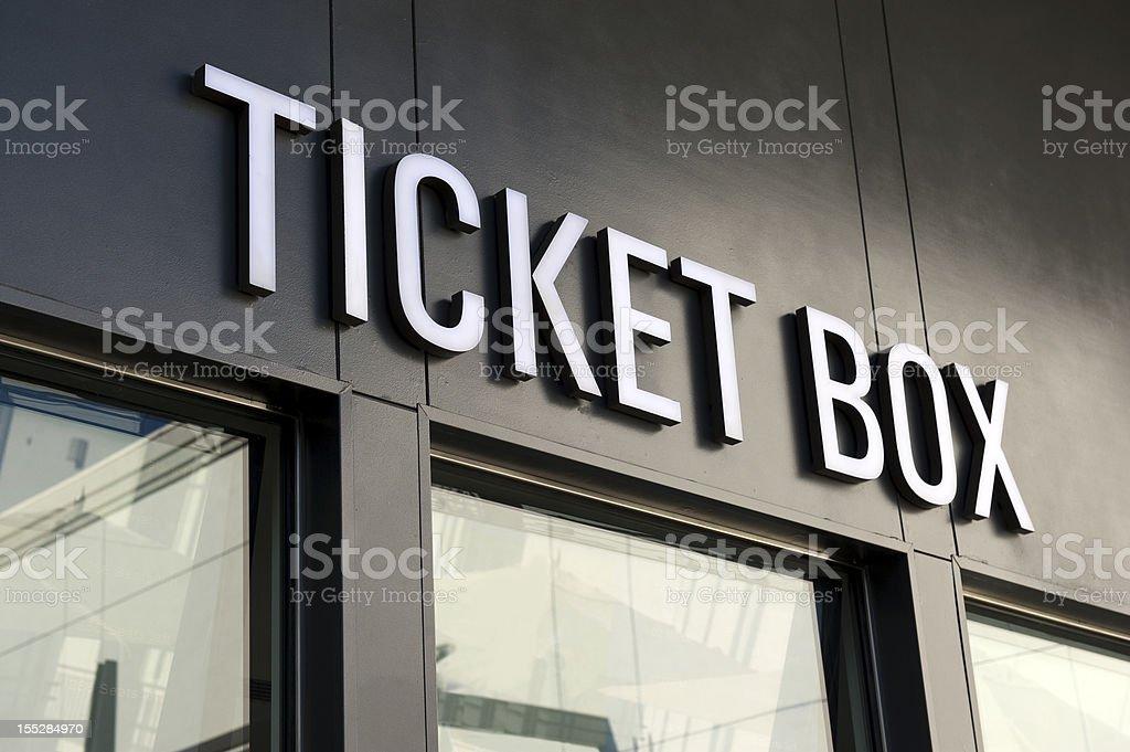 Ticket Office stock photo