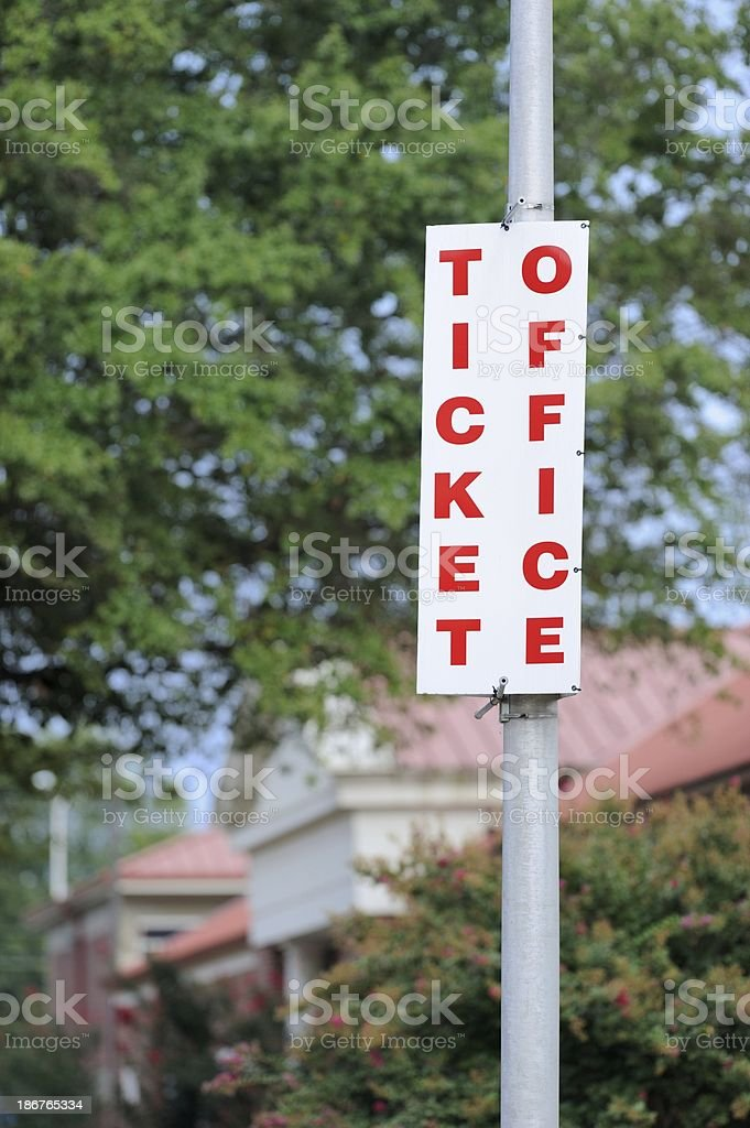 Ticket office sign royalty-free stock photo