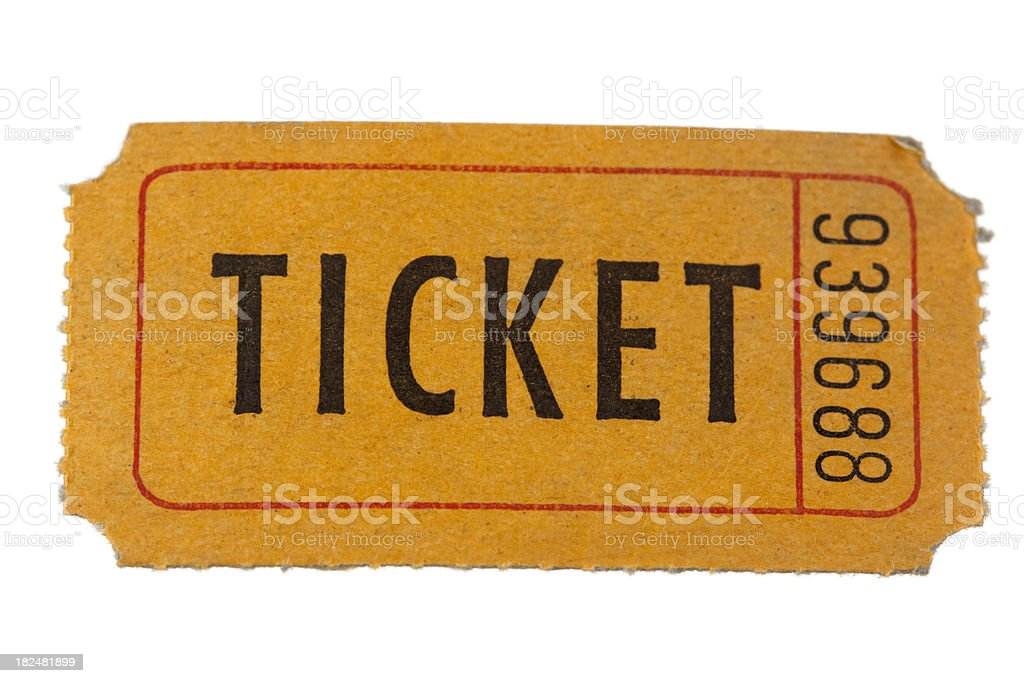 ticket royalty-free stock photo