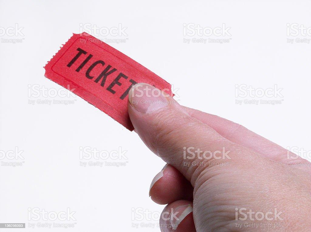ticket please royalty-free stock photo