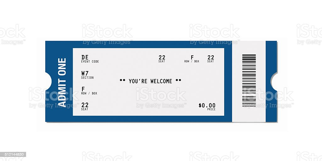 Ticket Sampler : Blank Event Ticket stock photo