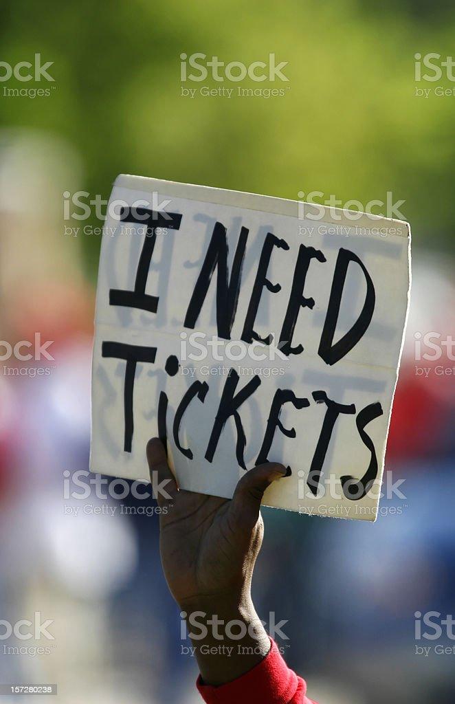 Ticket Scalper royalty-free stock photo