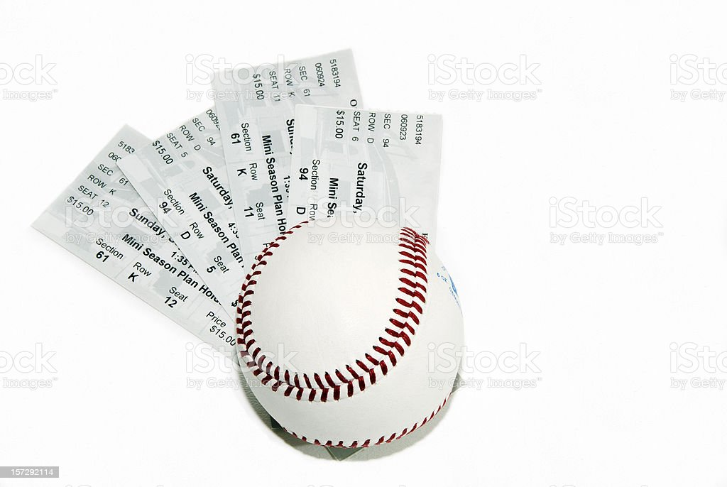 Ticket Series - Baseball stock photo