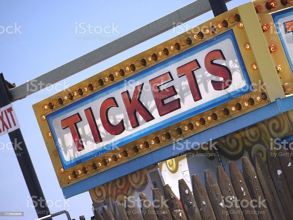 Ticket Sign stock photo