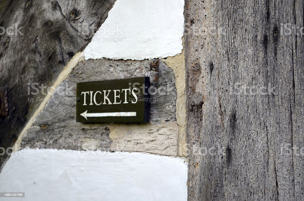 Ticket sign. royalty-free stock photo