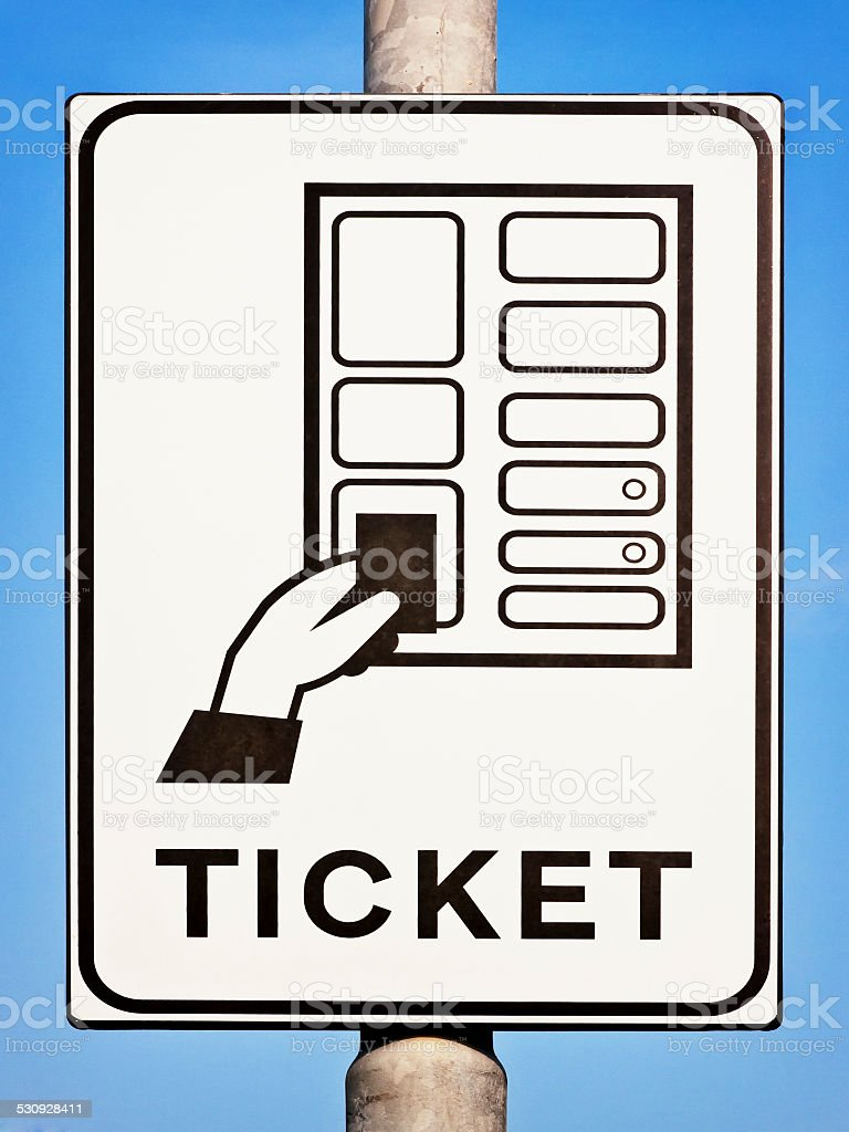 ticket sign stock photo