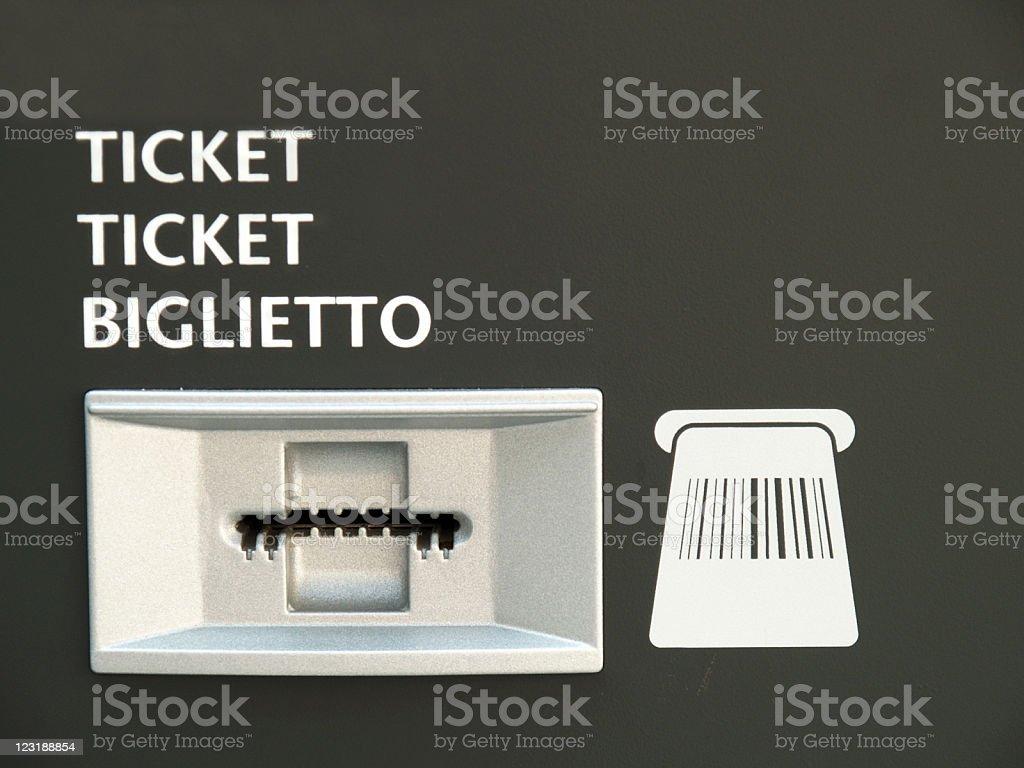 Ticket slot royalty-free stock photo