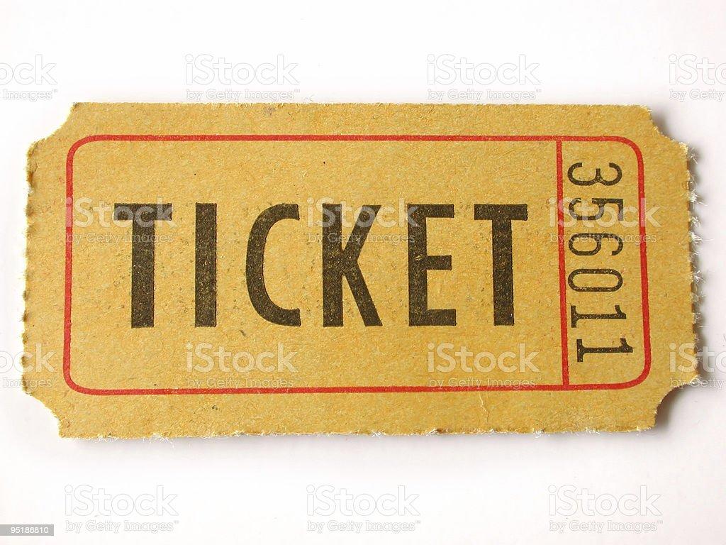 ticket stub royalty-free stock photo