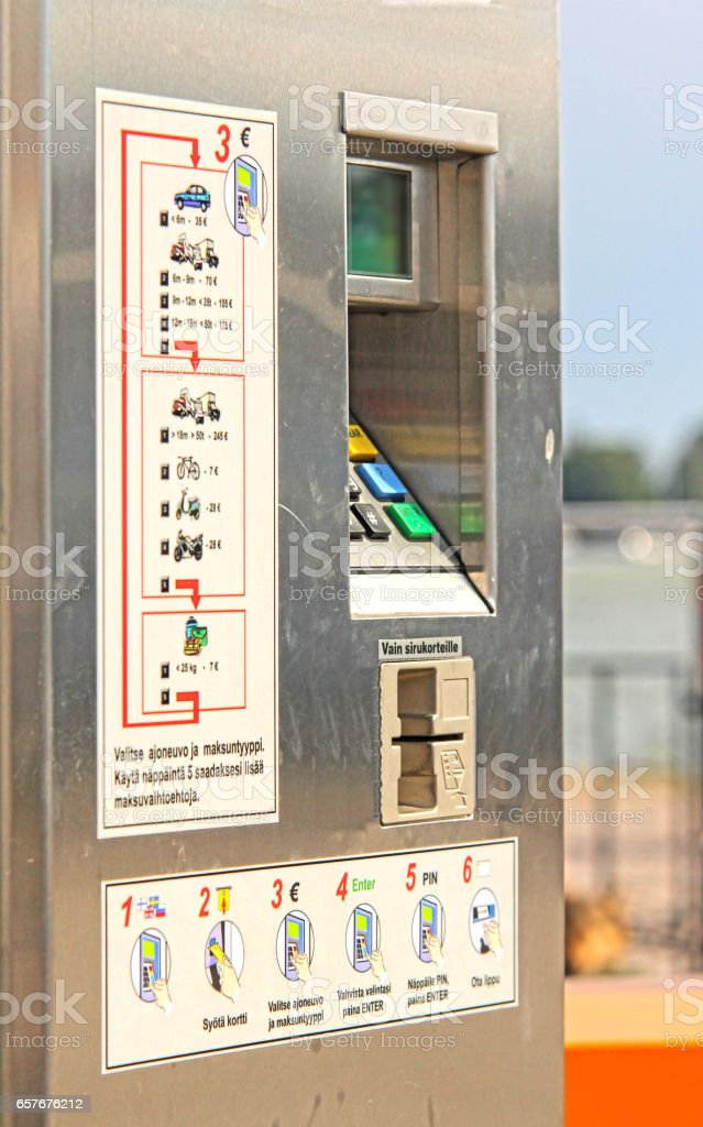 Ticket vending machine, commonly used for public transport stock photo