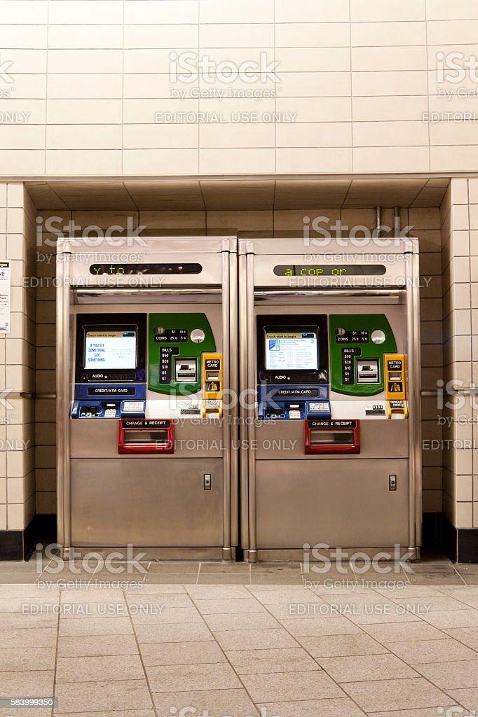 Ticket vending machine stock photo