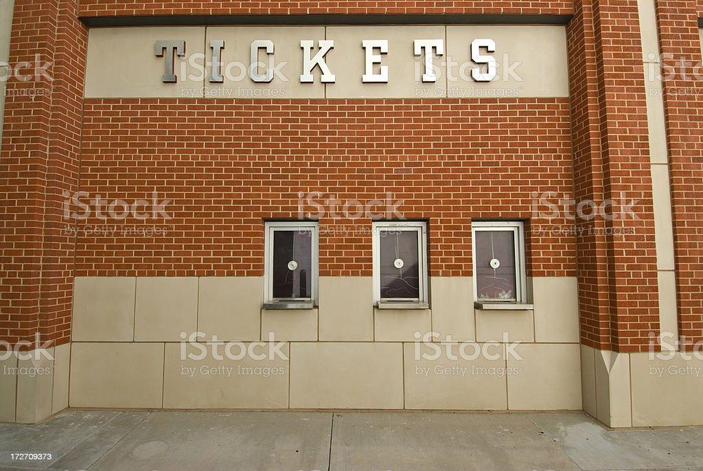 Ticket Window 2 stock photo