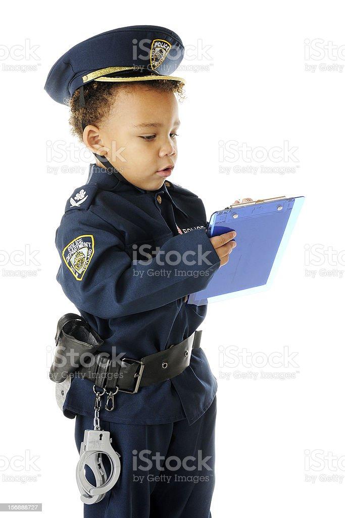 Ticket Writing Cop stock photo