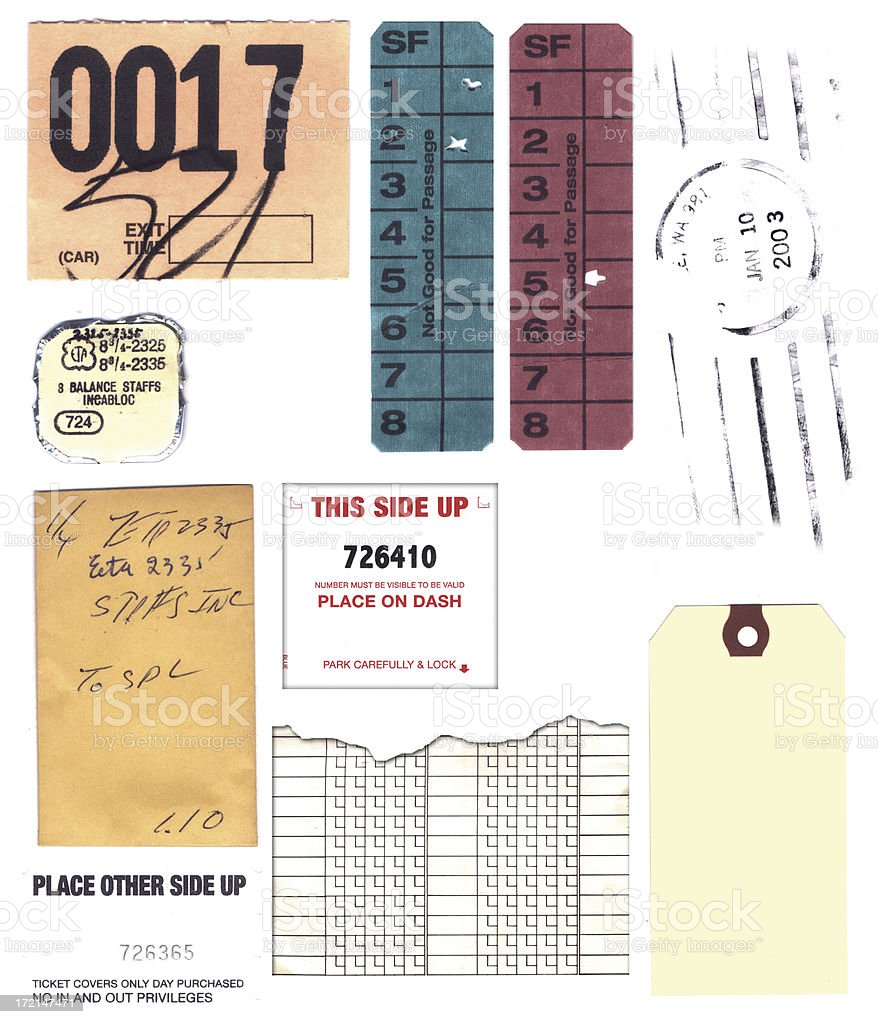 Tickets and Ephemera stock photo