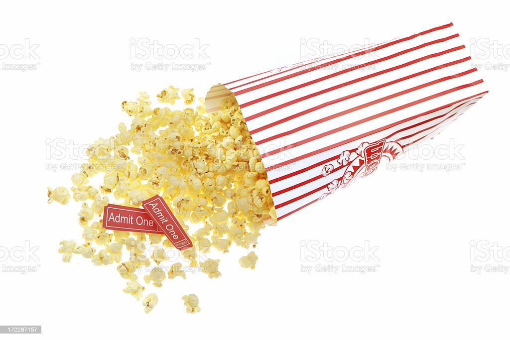 Tickets and Movie Munchies royalty-free stock photo