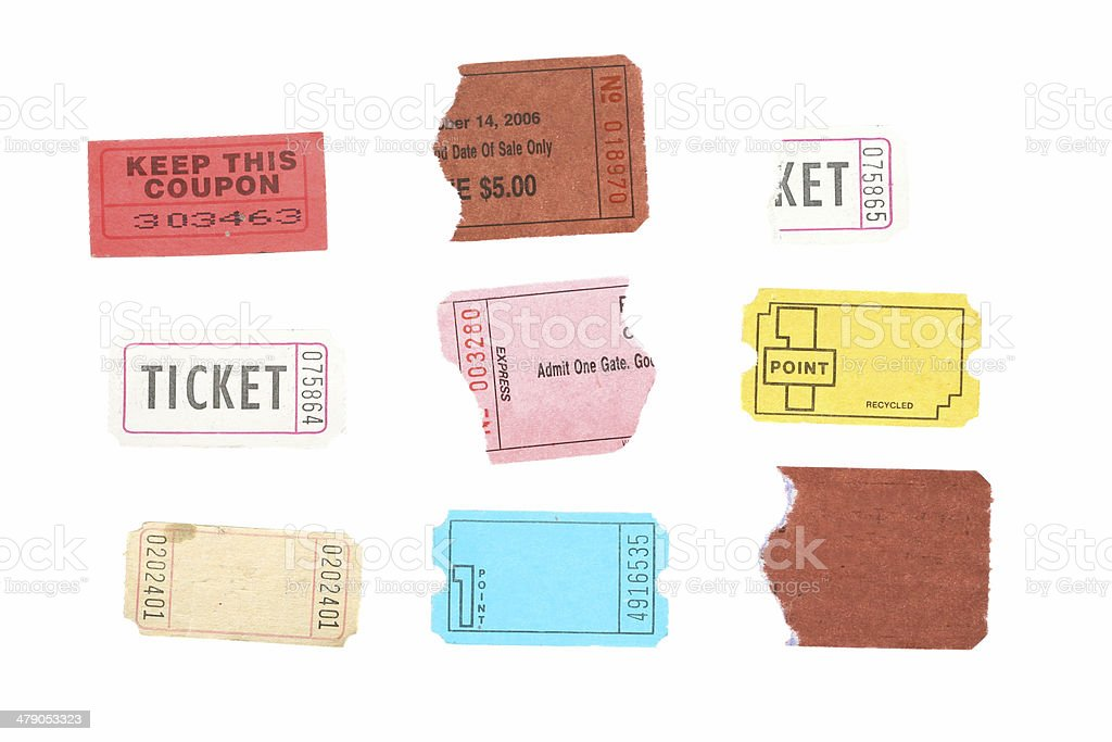 Tickets and Stubs stock photo