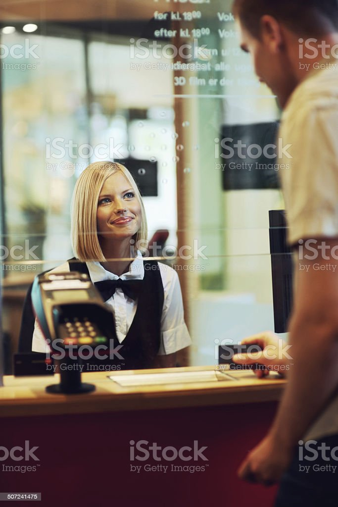 Tickets for two? stock photo