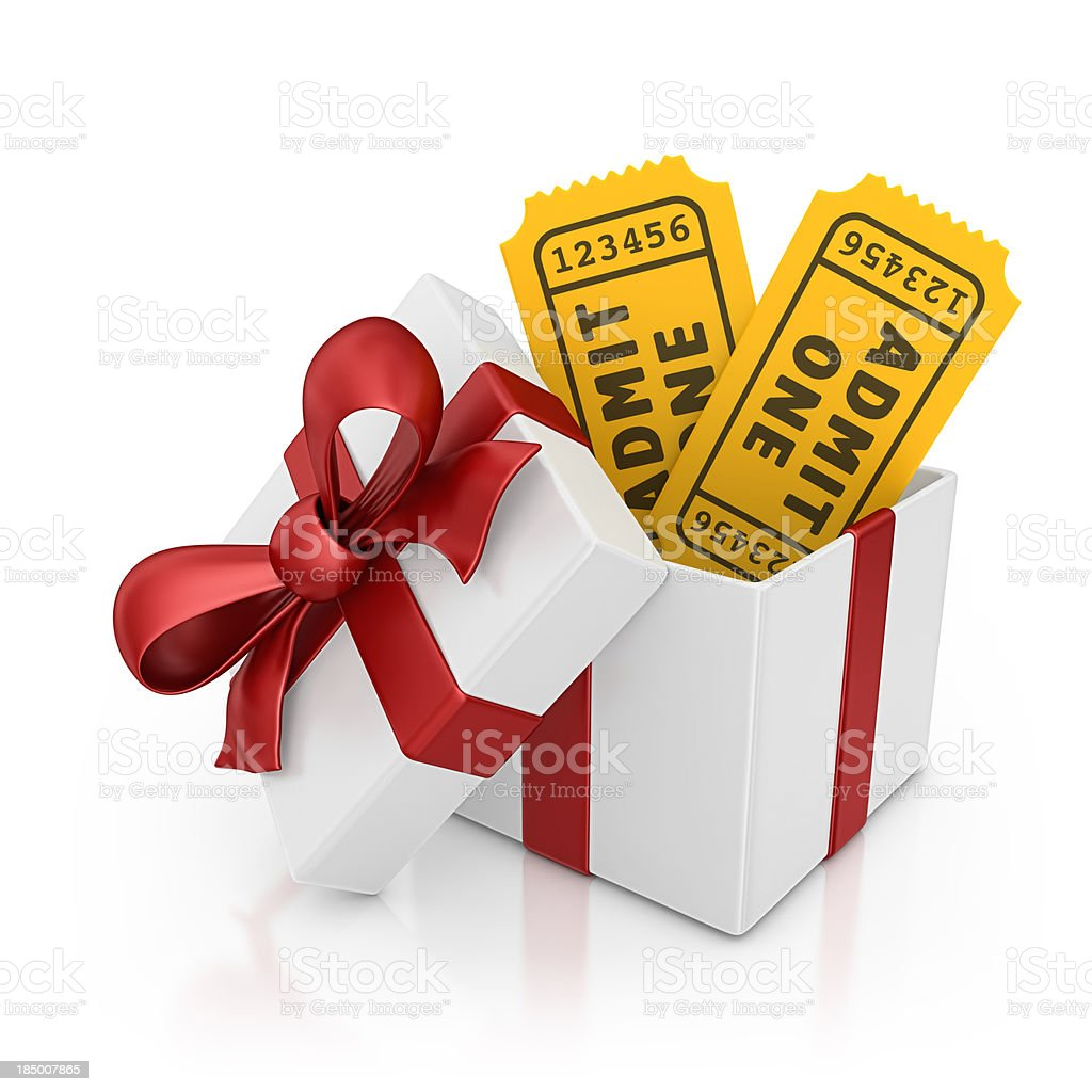 tickets gift royalty-free stock photo